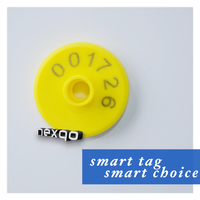 PVC RFID Animal Ear Tags For Cattle With Laser Number