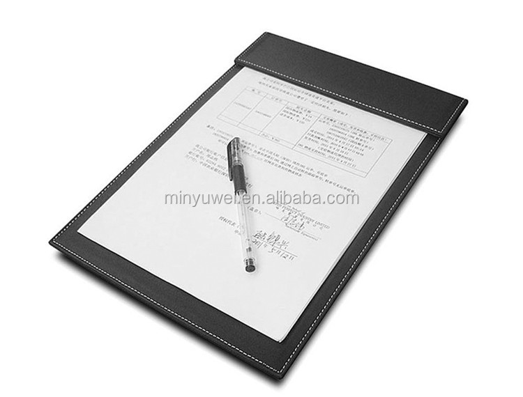 Pu Leather Restaurant Hotel Menu Folder Note Folder with Page Clip cheap leather writing pad