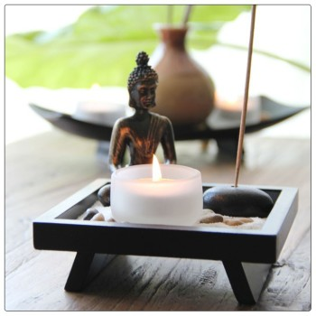 antique buddha statue mini zen garden zen garden ornament. Black Bedroom Furniture Sets. Home Design Ideas