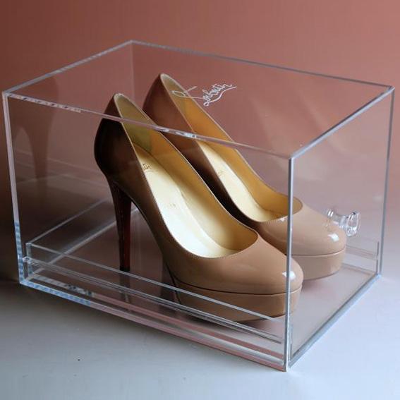 Boîte À Chaussures Avec Tiroir En Pmmaacryliqueplexiglas