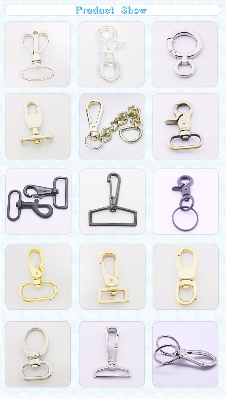 New Product Factory Price Swivel Lanyard Metal Dog Snap Hook Handbags Hardware For Bag Accessory