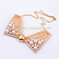 Fashion pearl design beaded collar necklace