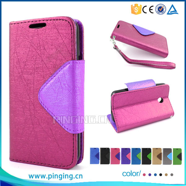 Funky Mixed Color Lady Wallet Style Leather Flip Cover For ZTE Blade V Plus V580