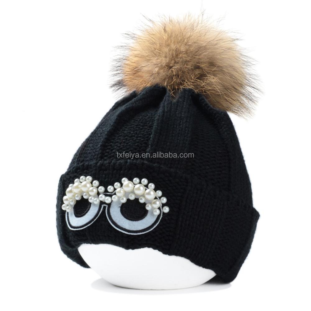 Los Ojos Del Monstruo De Gorros Acrílico Crochet Sombrero De Piel De ...