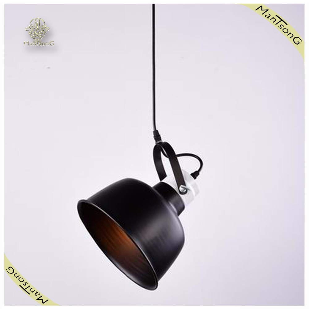 Retro American style E27 industrial loft bowl shape black iron metal indoor pendant light