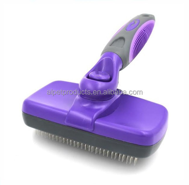 Custom <strong>Color</strong> Pet Dog Cat Self Cleaning Slicker Brush