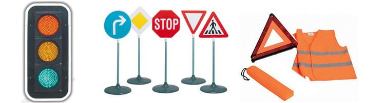 Reflective Solar Road Aluminium Warning Traffic Sign Board