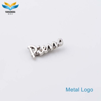 Zinc alloy metal casting silver bag lables custom logo for sale