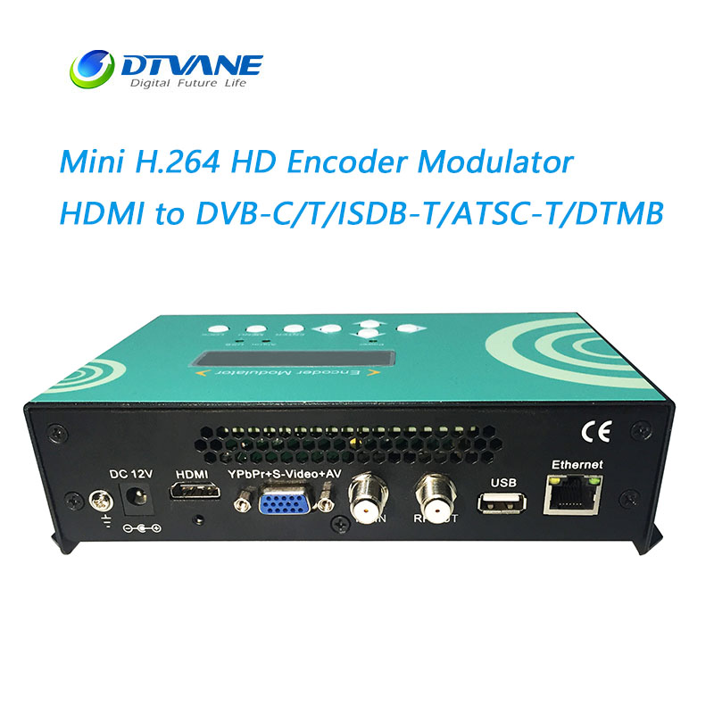 Mini Size H.264 HD Encoder Modulator HDMI VGA CVBS Input to RF HDMI Modulator