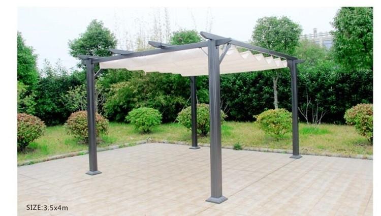 Outdoor Pergola Garden Sunshade Tent Wrought Iron Aluminum Gazebo