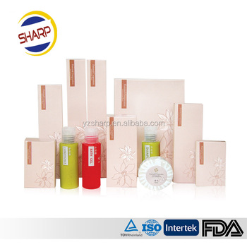 Branded disposable hotel amenities bath free samples