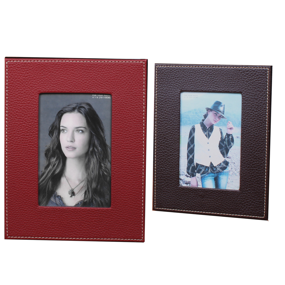 (8X10 Inch)Brown Faux Leather Photo Frame