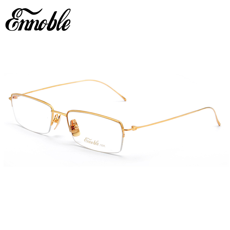 custom 18k gold glasses frame factory wholesale in china eh010