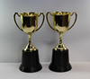 Wholesale black base plastic trophy cups students trophy /Best selling customerized colorful plastic trophy awards cup