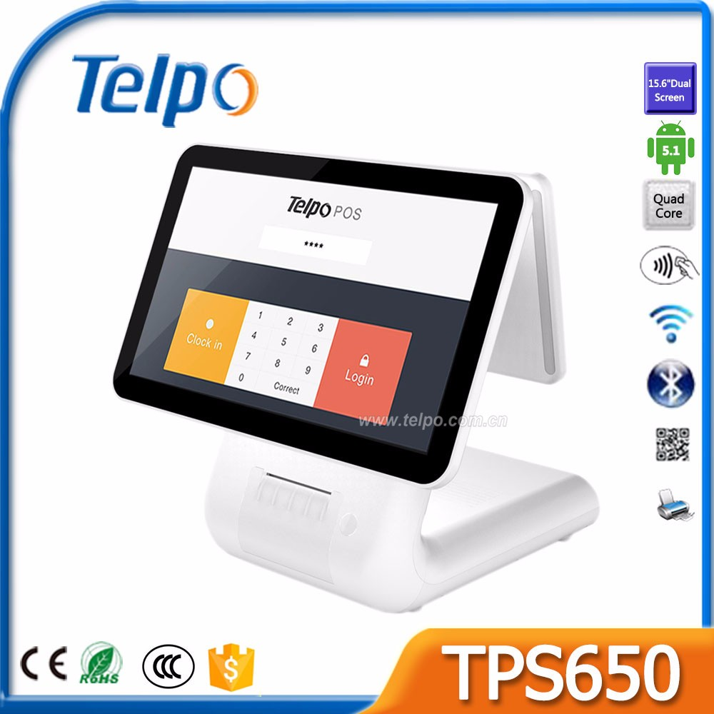 Telepower TPS650 Customized Android Windows 7 Open Source Pos device For Restaurant