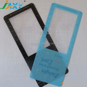 2016 PVC Gifts Magnifying Glasses Bookmark Magnifier with Ruler