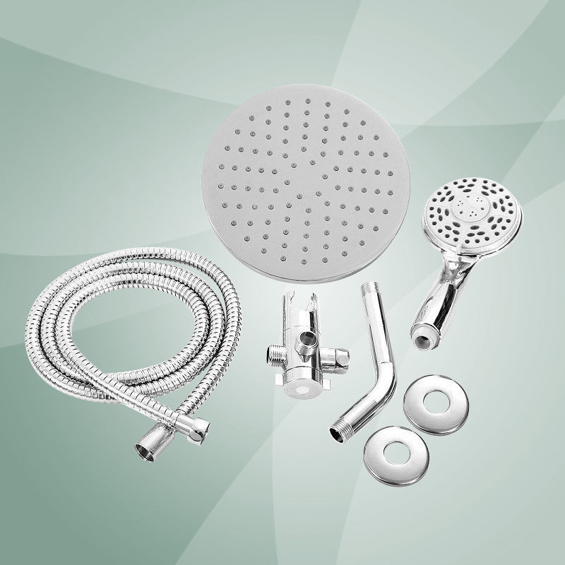 Overhead Shower Head and Handheld Shower 2 in 1 hand shower combo