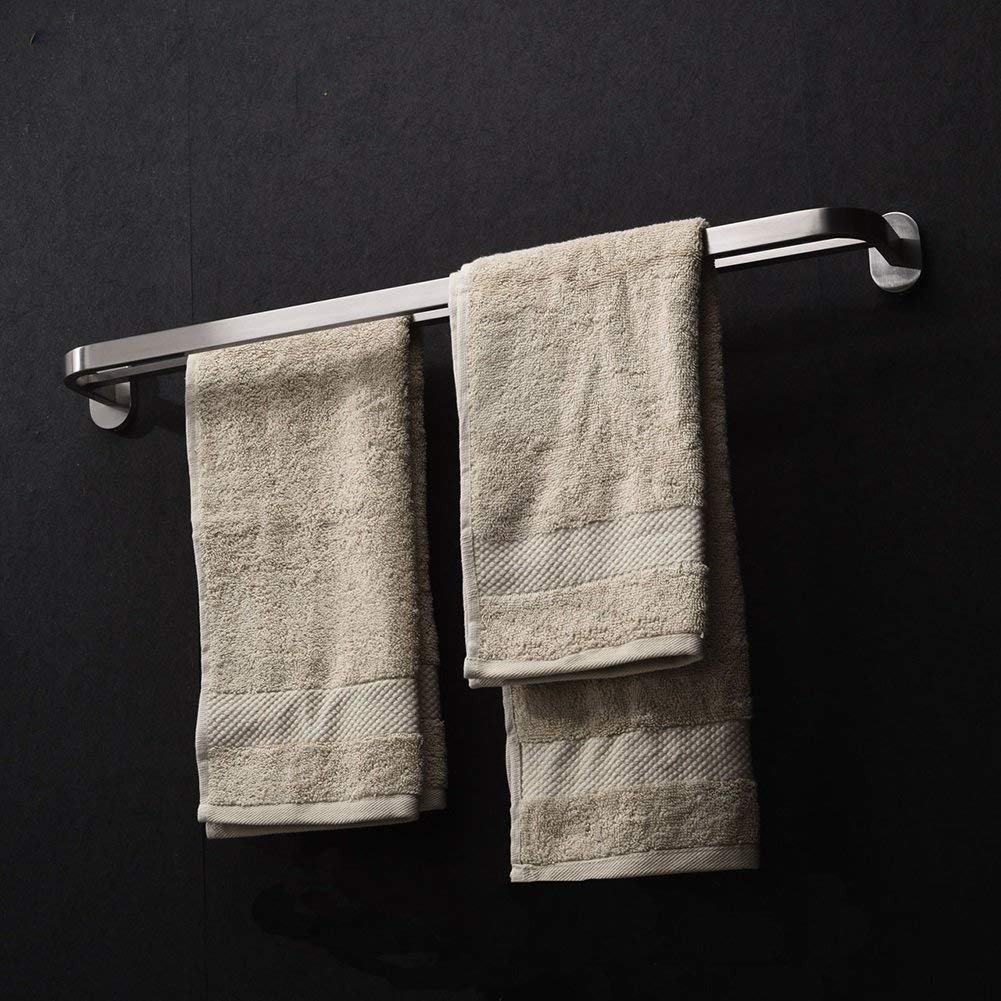 EQEQ Towel Holder Towel Holder/304 Stainless Steel Double Rack/Towel Rack Bath Rack Towel Rack Rooms/Bath Rooms/Trailer (Style: 1)