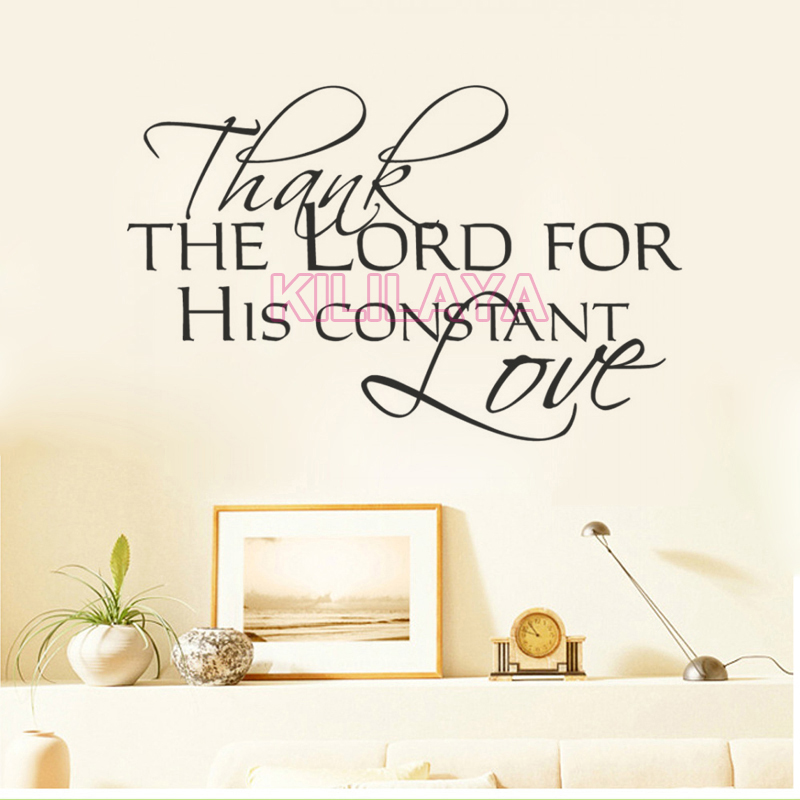The Lord S Love Wall Decal: Christian Thank The Lord For His Constant Love Vinyl Wall
