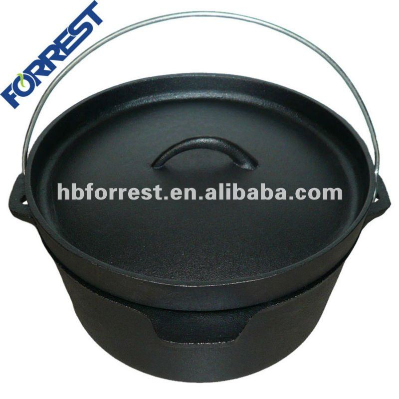 4.5QT cast iron camping ovens with lid lifter