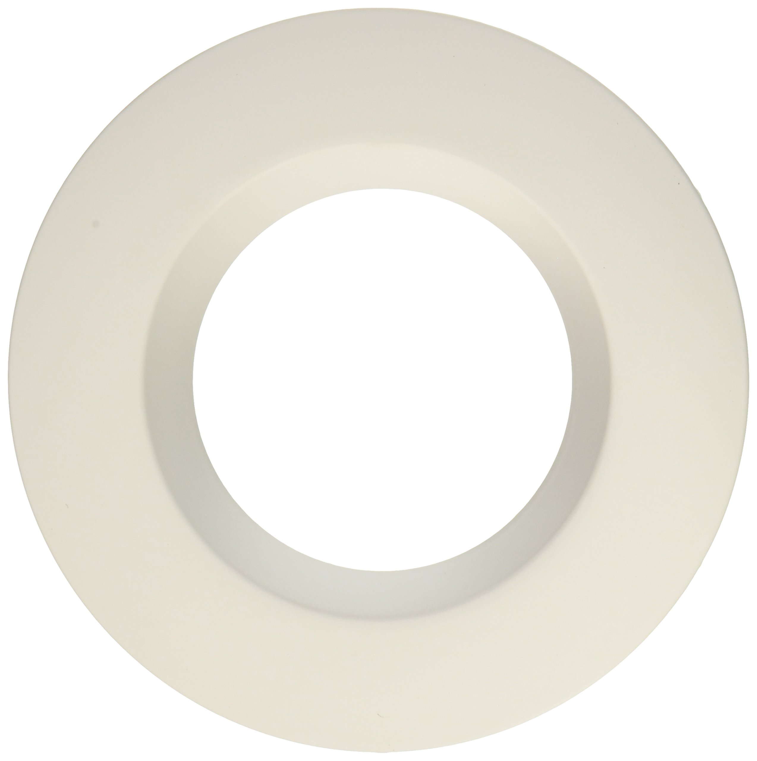 """4/"""" Gold Alzack With White Ring Recessed Can Trims Works With Halo"""