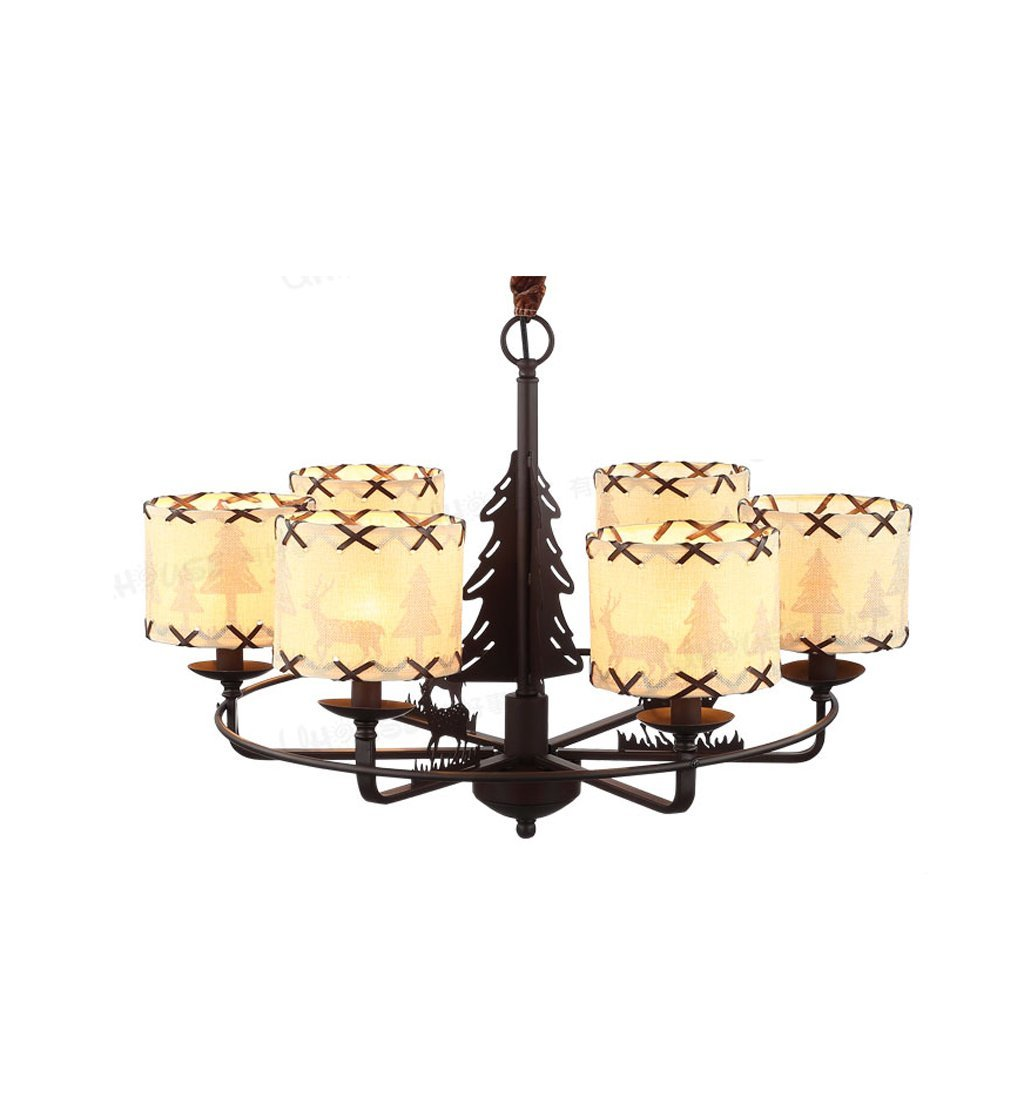 American country chandeliers, boys and girls bedroom lighting, European and American art lighting ( Color : White light )