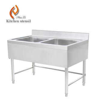 commercial kitchen sink. Double Bowls 1.2M Separated Assembled Commercial Kitchen Sink Cabinet With 304 Stainless Steel Backsplash For K