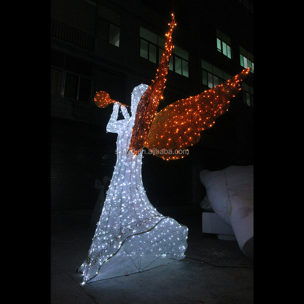3d angel led light led acrylic outdoor christmas decorations with chrismas trees buy led light for Angel of the north christmas decoration