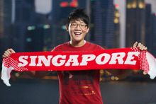 Singapore Knitted Scarf Design For National Day