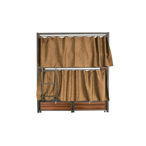 Hot sale dormitory metal bunk bed with guard bar