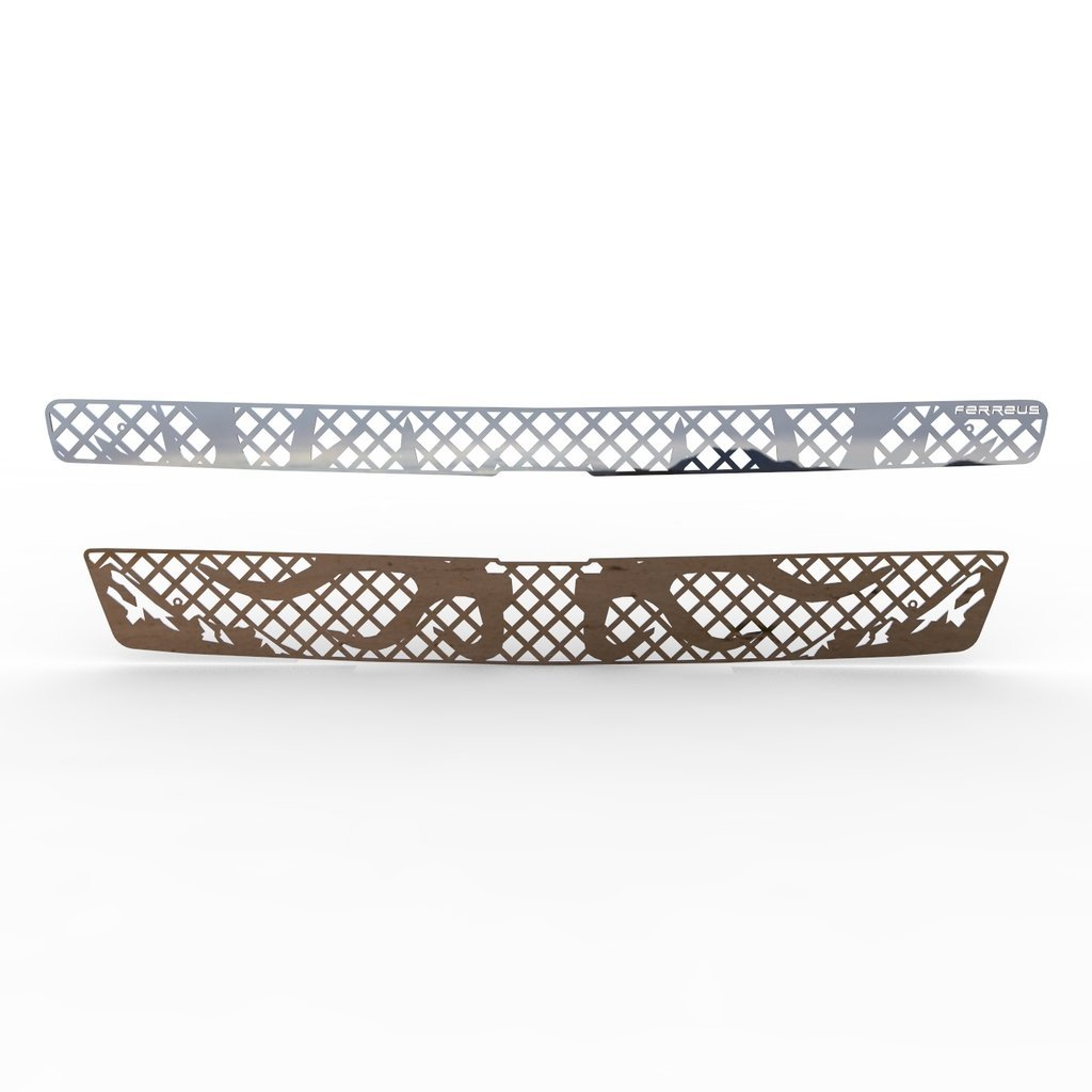 Deer Antler Hunting Polished Stainless Grille Insert Trim fits: 07-14 Chevy Suburban Tahoe 07-13 Avalanche - Ferreus Industries - TRK-100-11-Chrome