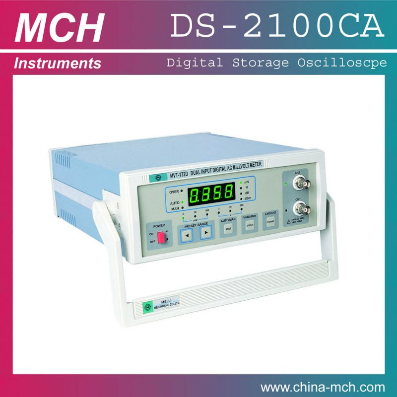 AC 220V Digital 5Hz-2MHz frequency 4 digits MVT-172D millivoltmeter