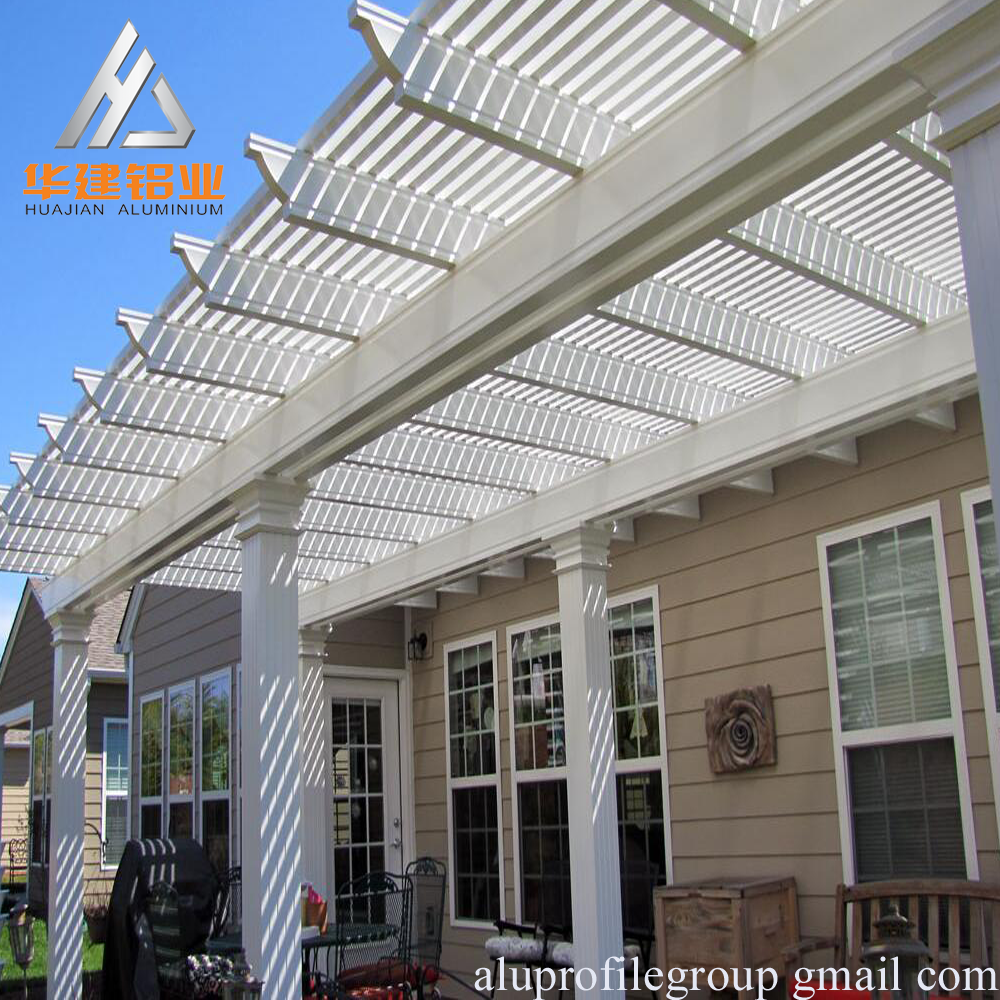 China Morden Pergola with Cheap price , popluar new type outdoor aluminum pergolas , white , grey ,wood ,powder coating color