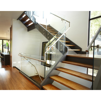 Safety Glass Staircase Fiberglass Staircase Wood Stair Treads Staircase