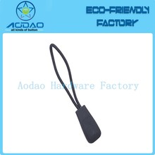 Plain color PVC zipper puller with string
