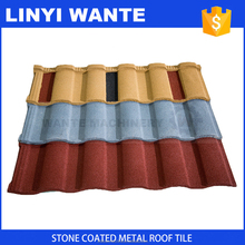 World famous lightweight interlocking system Roman steel roof tiles for house construction