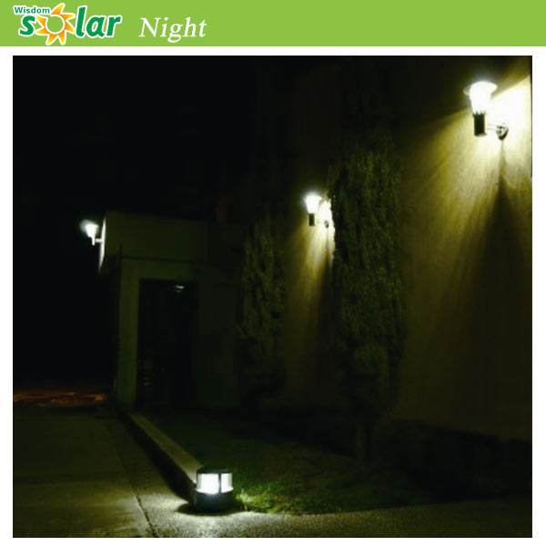 Solar Power Wall Light Fence Led Outdoor Light For Artificial ...