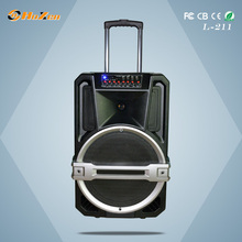 popular china profession subwoofer 15'' inch speaker with bluetooth and light