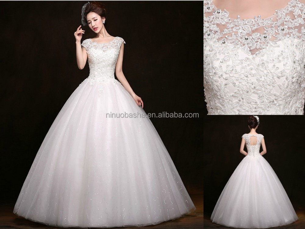 Wholesale Real Photo 2015 White Full-Length Ball Gown Wedding ...