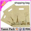Yasonpack cheap custom shopping plastic bags die cut handle plastic shopping bag ldpe bags for shopping