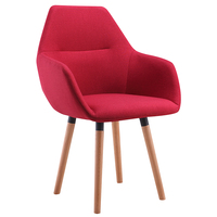 Plastic wooden leather metal dining chair Made in china Cashmere fabric dining chair