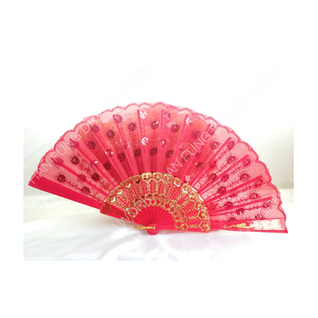 Elegant antique gift woven manual plastic hand fan