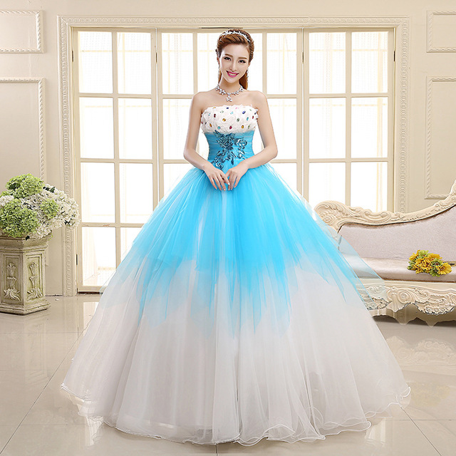 Buy Cheap China blue puffy wedding dresses Products, Find China blue ...
