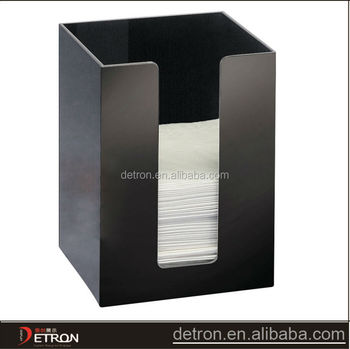 Black Classic Acrylic Square Napkin Holder Buy Acrylic