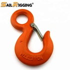 G70 Galvanized Chain Crane Hoist US Type S320 Alloy Steel Drop Forged Locking Lifting Eye Hook with Safety Latch