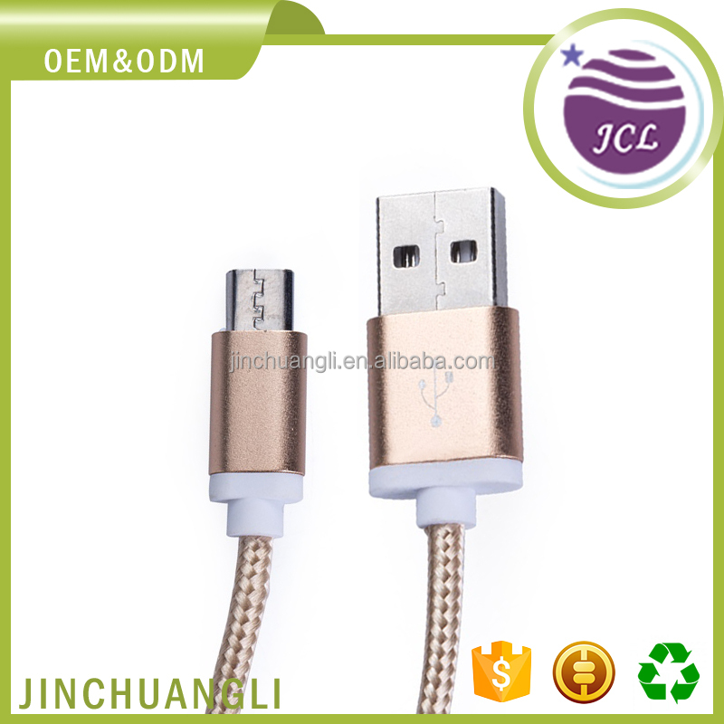 High quality 1-3m wire electrical mobile nylon braided usb charger cable with oem odm