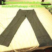 Cloth long pants in bales from USA used clothes used shoes used bags