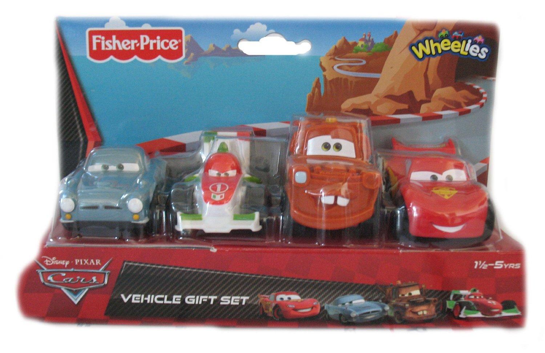 Fisher Price Cars 2 Wheelies 4 Vehicle Gift Set