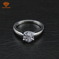 Wholesale customized 18K cheap white moissanite engagement diamond gold ring