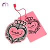 Custom Heart Shaped Pink Elegant Garment Accessories Clothing Paper Hang Tag